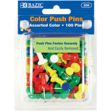 206 Color Push Pins