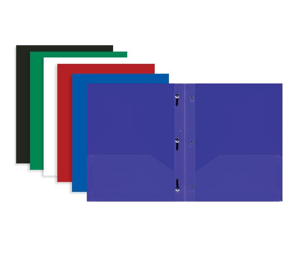 Poly Plastic Folders W Prongs 002 3159 Backpack Gear Inc