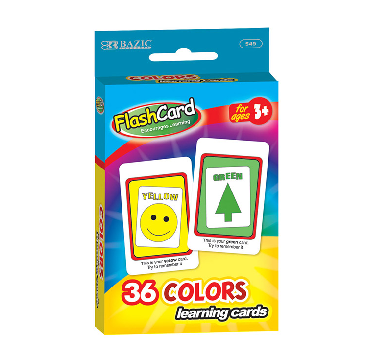Flash Cards Colors 002 549 Backpack Gear Inc
