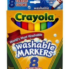 002-CR587808 Crayola Broad Line Washable Marker 8 ct.