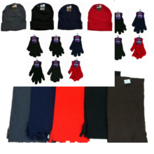 004- 6019-20-39 Winter Knit Hats, Gloves, and Solid Fleece Scarves