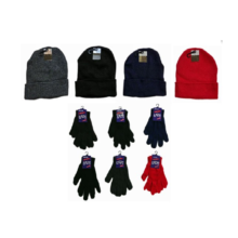 004-6019C-20C Children's Knit Hats and Magic Gloves Combo Packs