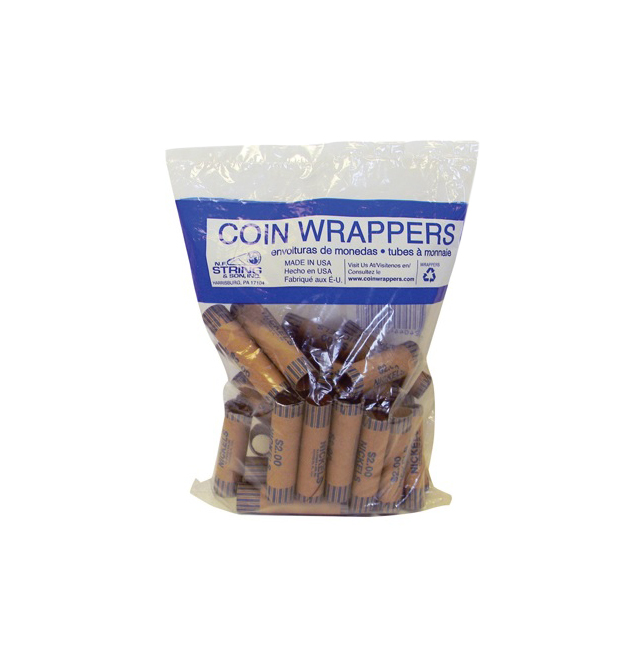 Nickel Tube Coin Wrapper 002 10427 Backpack Gear Inc